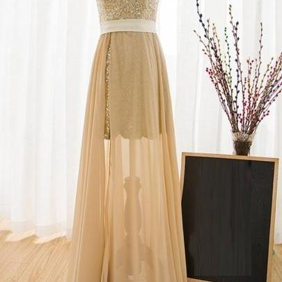 One Shoulder A-Line Prom Dress,Long..