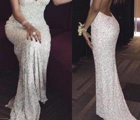 White sequin mermaid..