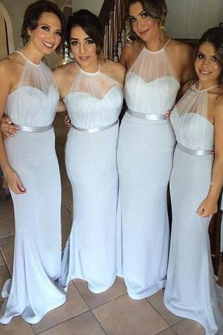 Pretty Bridesmaid Dresses Chiffon Sheath/Column Sexy Bridesmaid Dresses