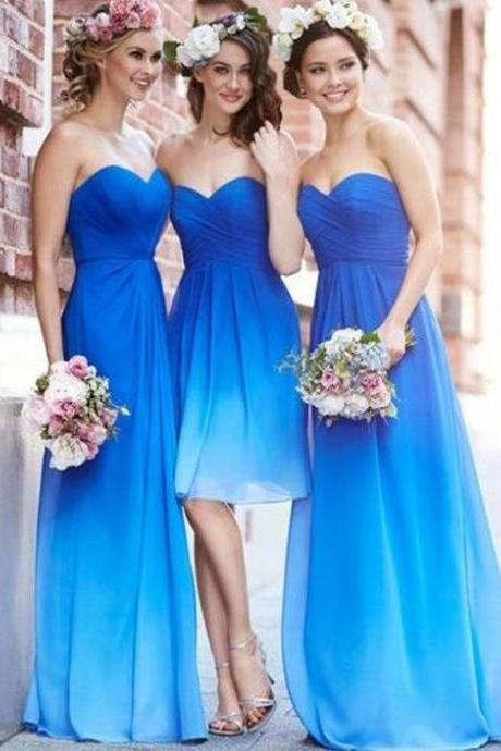 Bridesmaid Dresses Cheap A-line Sweetheart Long Bridesmaid Dresses