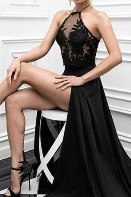 Black Prom Dresses 2017, Charming Prom Dress, Long Formal Evening Dresses ,Sexy Prom Dresses