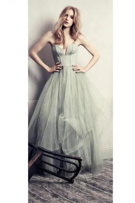 Chic Prom Dresses Sweetheart A-line Floor-length Long Sexy Prom Dress/Evening Dress