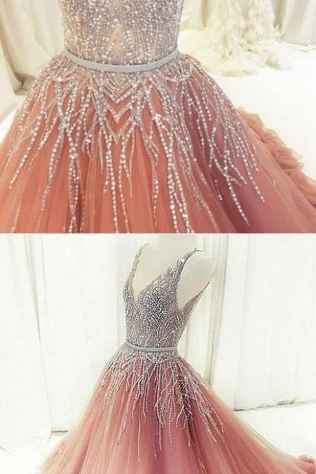 Stunning sequins long customize evening dress, long formal prom dress,P1365