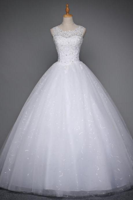 Lace Up Ball Gown Quality Wedding Dresses 2017 Customized Plus Size Bridal Dress Real Photo,W1456