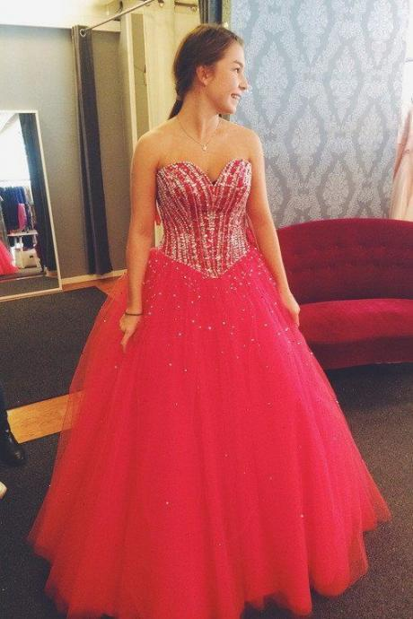 Beaded Quinceanera Dress Ball Gown Graduation Party Dresses,P1602