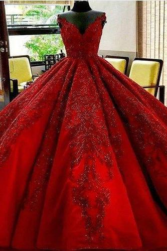 Long Floor Length ball gown quinceanera dresses Evening Dresses Glamorous Prom Dress burgundy Graduaction Dresses ,P2078