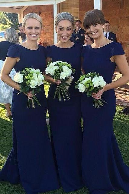 Long Sleeve Bridesmaid Dresses, Mermaid Long Bridesmaid Dress, Elegant Lace Bridesmaid Dress, Wedding Guest Dress, long bridesmaid dress, dress for wedding, wedding party dress, Royal blue bridesmaid dress, simple short sleeve bridesmaid dress, cheap mermaid bridesmaid dreess, elegant simple bridesmaid dress, long bridesmaid dress,P3023