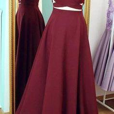 Sexy A-Line Prom Dress,spaghetti straps Prom Dresses,Cheap Prom Dresses, burgundy chiffon Evening Dress Prom Gowns