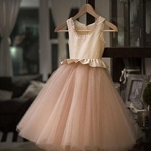 Tulle Communion Pageant Girl Dress,Flower Girl Dress,FGD863