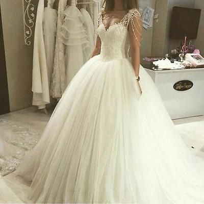 Off Shoulder Beading Sequin Lace Wedding Dress Ball Gown White Ivory Bridal Gown,W1359