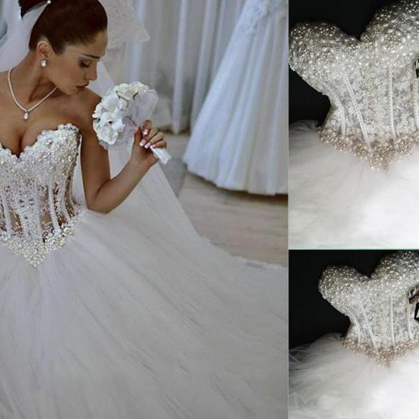 Wedding Dresses,Sleeveless Wedding Gowns,Sexy Bridal Dresses,Wedding Dress,Off the shoulder Wedding Dresses,Beading Wedding Dresses,Vintage Wedding Dresses,Ball Gown Wedding Dresses,W3136